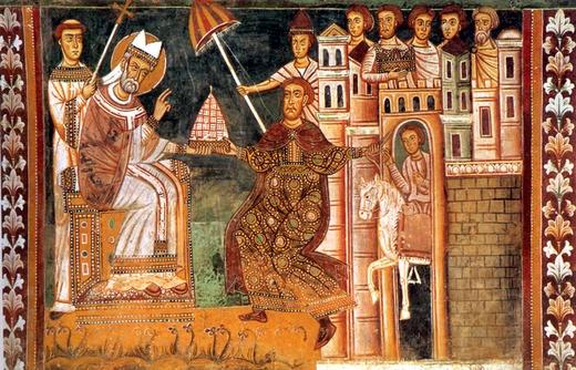 Św. Sylwester I ze św. Konstantynem Wielkim